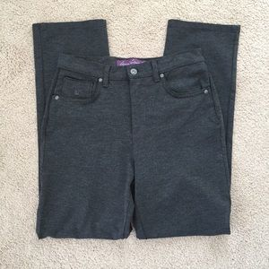 Gloria Vanderbilt Amanda Pants Size 8 Gray